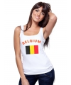 Belgische vlag tanktop / t-shirt voor dames