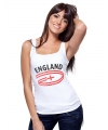 Engeland tanktop voor dames met vlaggen print