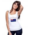 Nieuw Zeelandse vlag tanktop/ t-shirt voor dames