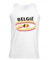 Belgie tanktop voor heren met vlaggen print