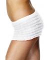 Witte onderbroek met rafels voor dames One size Wit