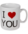 Koffie beker I love you 700 ml