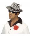 Zebra print gangster hoed