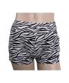 Zebraprint hotpants voor dames S/M Multi