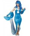 Zeemeerminnen jurkje blauw voor dames 40/42 Multi