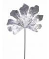 Kerstdecoratie zilveren aralia blad 55 cm