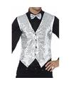 Zilver pailletten vestje voor heren 48-50 (M) Zilver