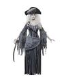 Zombie piraten verkleedkleding voor dames 40-42 (M) Grijs