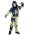 Zombie skelet kinder kostuum 128 - 6-8 jr Multi