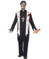 Zombiepak priester kostuum 52-54 (L) Zwart