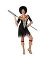 Zulu outfit voor dames M/L (38-40) Zwart