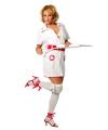 Zuster kostuum voor dames 38 (M) Wit