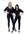 Zwart nepbonten jasje voor dames