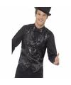 Zwart pailletten vestje voor heren 48-50 (M) Zwart