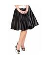 Verkleed Rock and Roll rok zwart voor dames