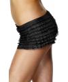 Zwarte onderbroek met ruches voor dames One size Zwart