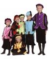 Zwarte Pieten pakje blauw voor kids 4-6 jaar Multi