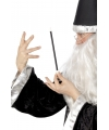 Zwarte goochelaar toverstaf 24 cm