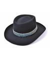 Zwarte cowboy hoeden voor volwassenen