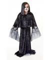 Zwarte zombie cape voor kinderen 128 - 6-8 jr Zwart