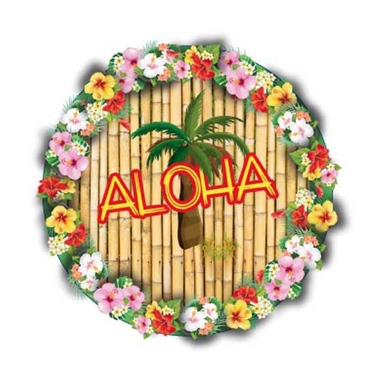 Bierviltjes Hawaii thema print