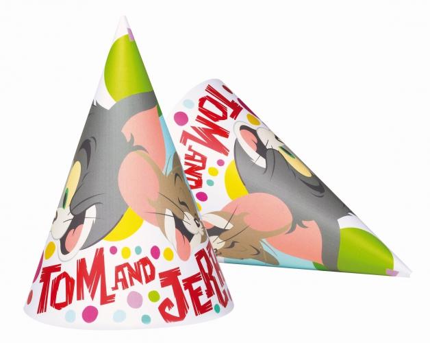 Tom en Jerry feesthoedjes 6 stuks