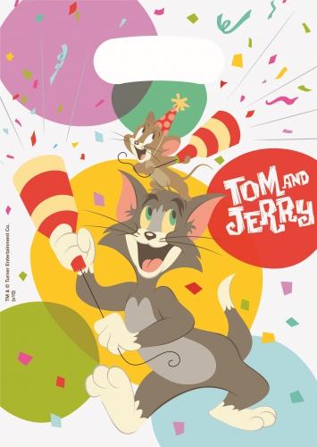 Tom en Jerry uitdeelzakjes 6 stuks