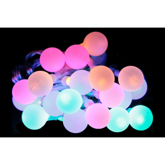 Lichtsnoer met 20 LED bolletjes   Fun en Feest