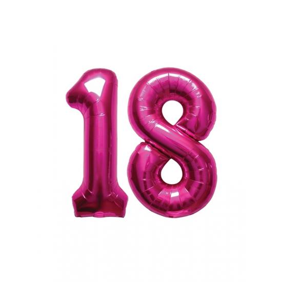 Verjaardag ballonnen 18 jaar roze fun en feest - Deco slaapkamer jongen jaar ...