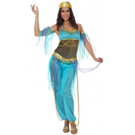 1001 nacht dames kostuum blauw XL (42-44) Blauw
