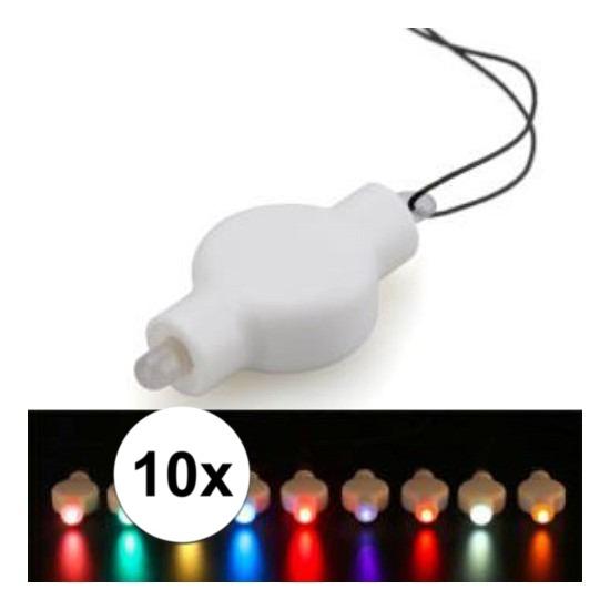 10x LED lampje multi voor lampionnen Multi