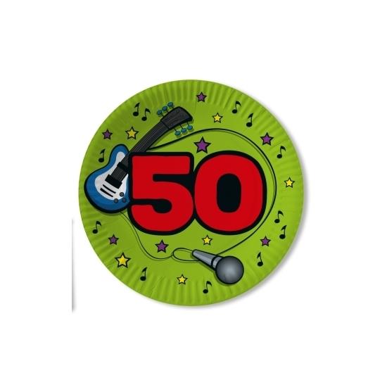10x stuks party bordjes verjaardag 50 jaar Abraham Sara 23 cm - Feestbordjes