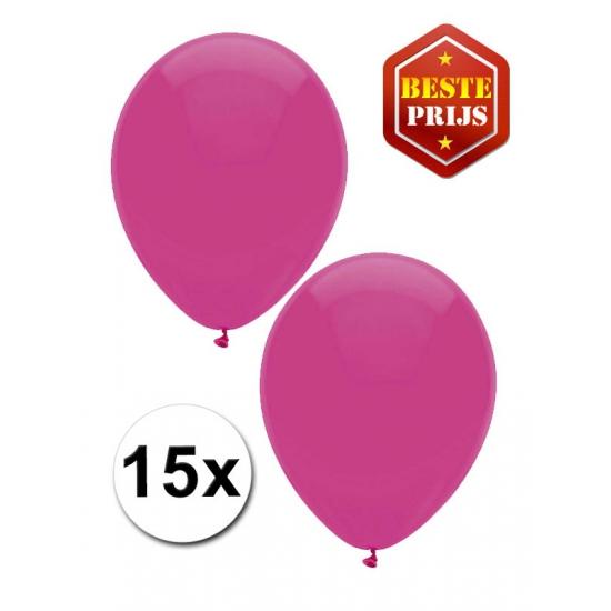 15x donkerroze ballonnetjes