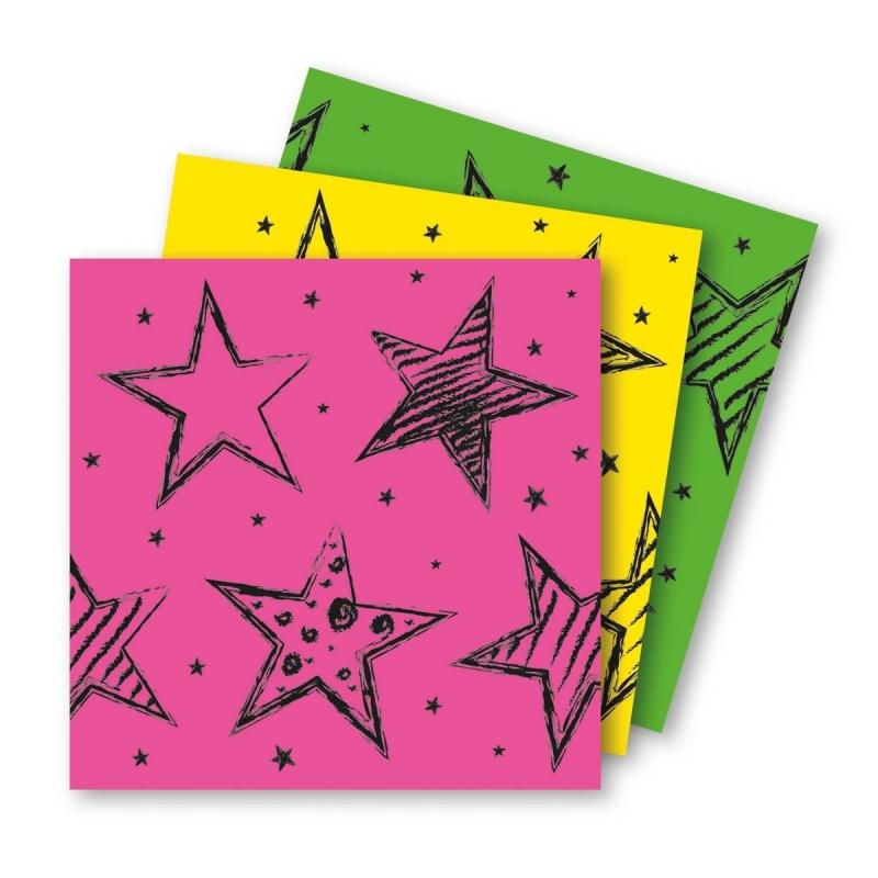 18x felgekleurde feest servetten 33 x 33 cm kinderverjaardag Multi