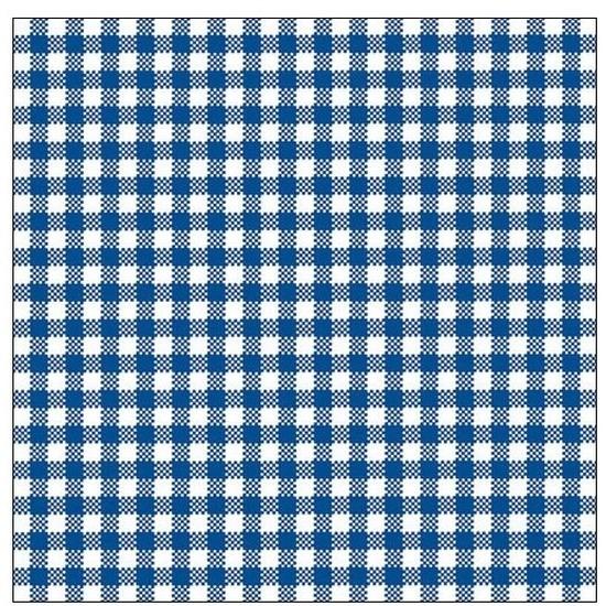 20x Feest servetten blauw wit geruit 33 x 33 cm -
