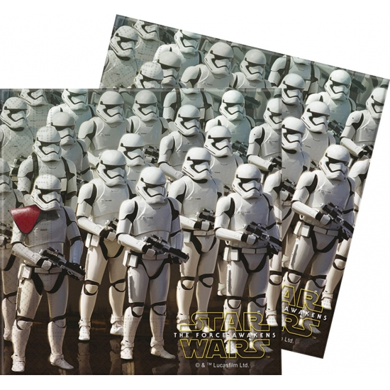 20x Star Wars feest servetten 33 x 33 cm kinderverjaardag Multi