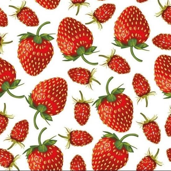 20x wegwerp servetten aardbeien thema 3-laags -
