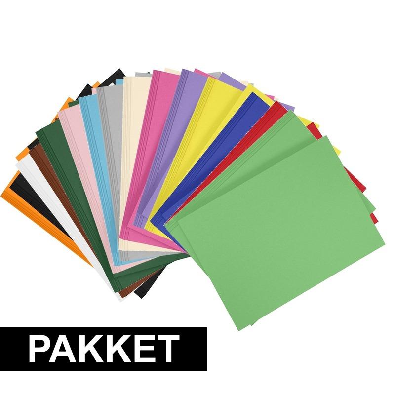 24x A4 hobbykarton in alle kleuren Multi