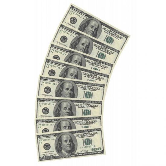 30 x 100 Dollar feest servetten geld -