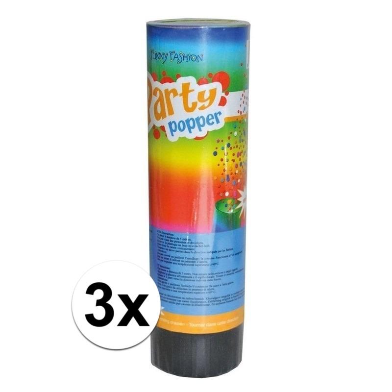 3x voordelige kleine party poppers
