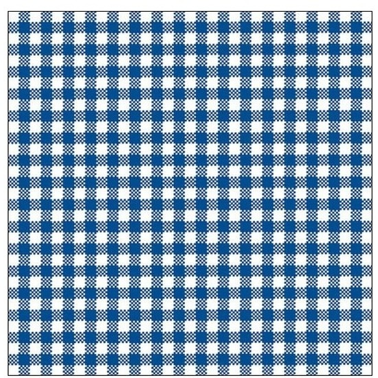 40x Feest servetten blauw wit geruit 33 x 33 cm -