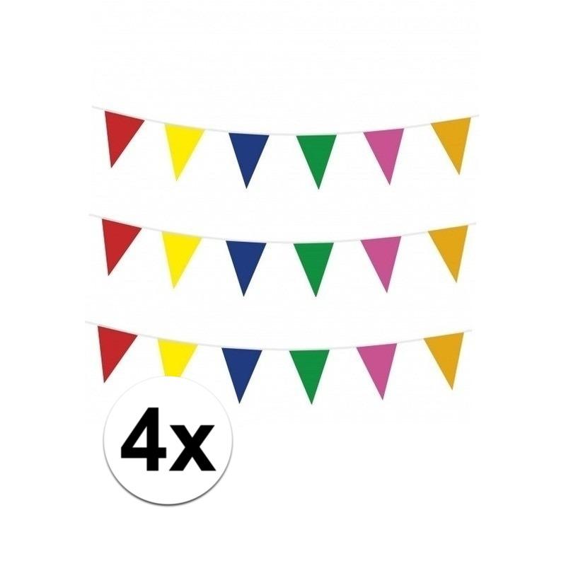 4x 10 meter vlaggenlijn meerkleurig