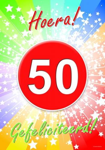 Uitgelezene 50 jaar verjaardag poster   Fun en Feest PA-46