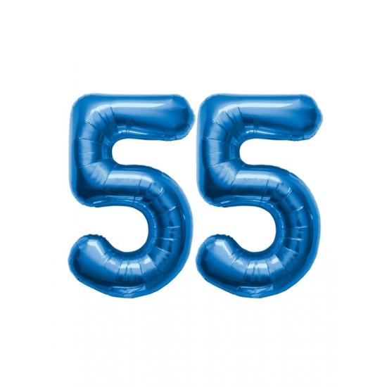 Verwonderend Verjaardag ballonnen 55 jaar blauw | Fun en Feest QW-32