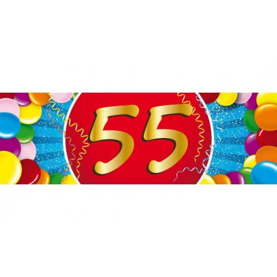 Verrassend 55 jaar leeftijd sticker verjaardag versiering | Fun en Feest DX-87