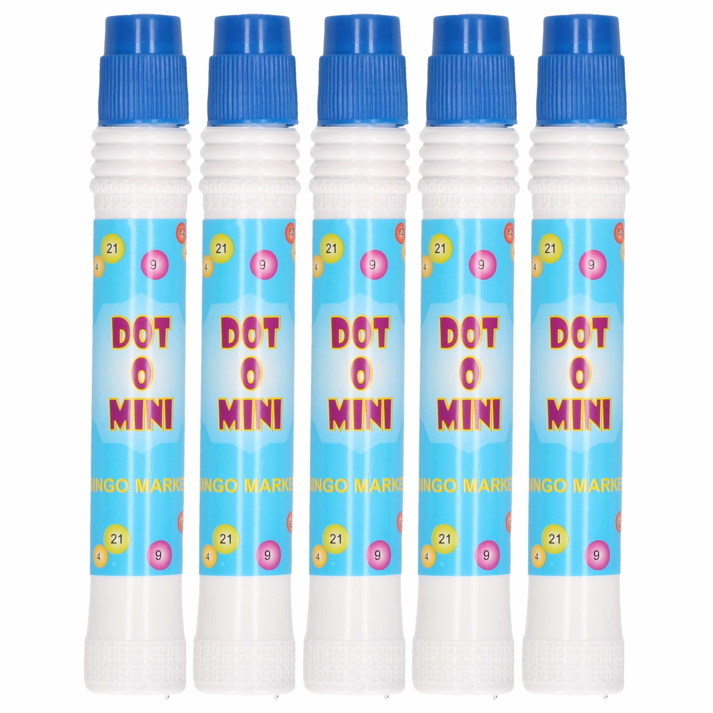 5x Blauwe bingostift/bingomarker