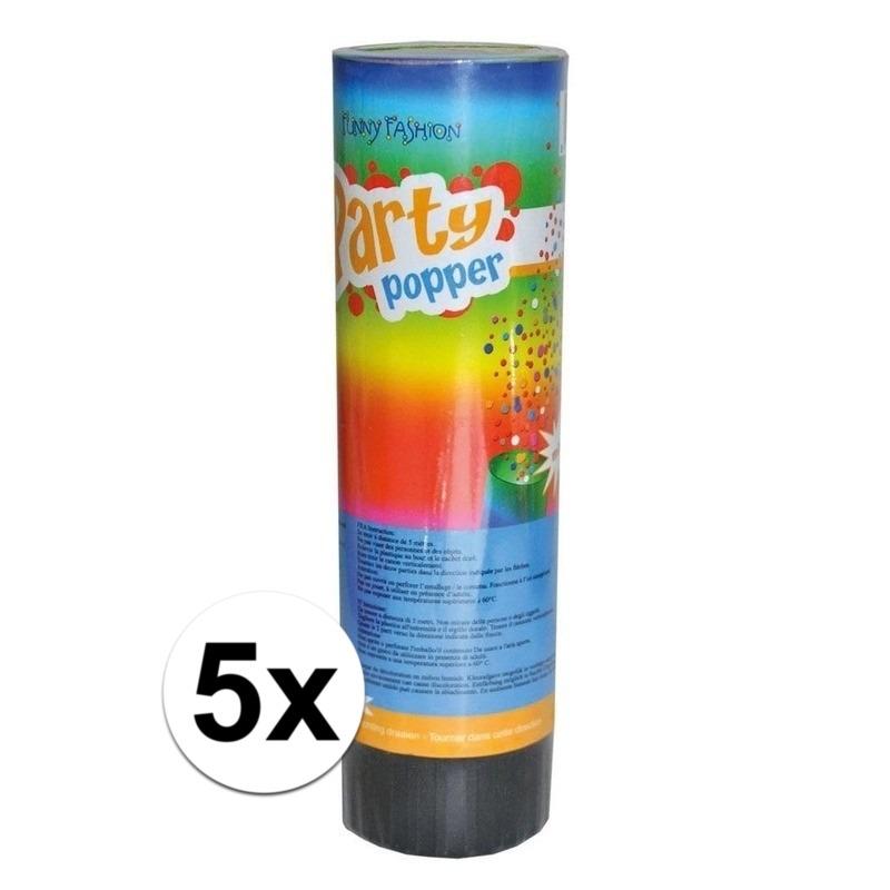 5x voordelige kleine party poppers