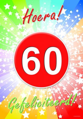Verwonderlijk 60 jaar verjaardag poster   Fun en Feest YK-77