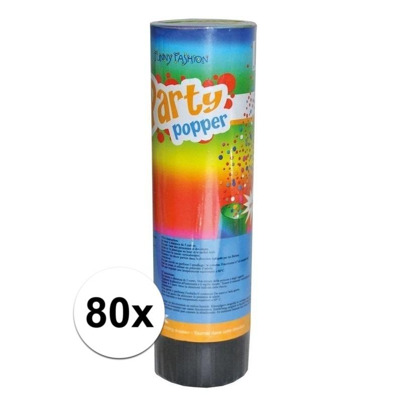 80x voordelige kleine party poppers