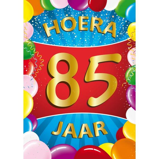 85 jaar Mega poster 85 jaar   Fun en Feest 85 jaar